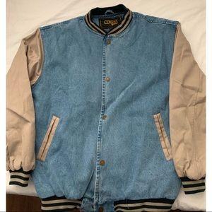 Men's retro jean jacket
